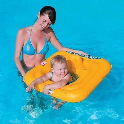 """27"""" Swim Safe Inflatable Baby Support Float Aid Seat Age 0-12 Months 