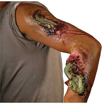 Snake Bite Green Amazon Wound Dress Up Halloween Costume Makeup Latex Prosthetic