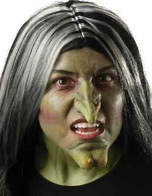 Witch Nose Wicked Evil Green Dress Up Halloween Costume Makeup Latex Prosthetic
