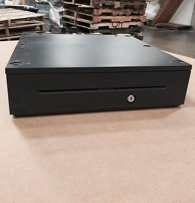 NCR 2181-2105 RealPOS Cash Drawer with Media Slots, Black in Color, Money Tray