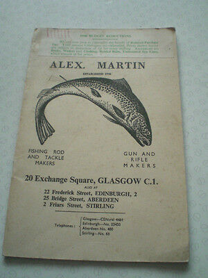 A Scarce Vintage Alex Martin Advertising Fishing Catalogue For 1948