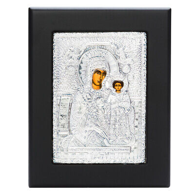 NEW Clarte Icon Holy Virgin Mary of Roses 11.5x14.5cm