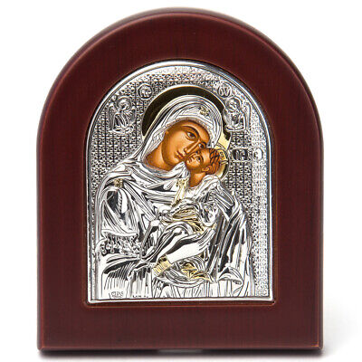 NEW Clarte Icon Silver Axion HV Mary Kissing Gold 10x8.5cm