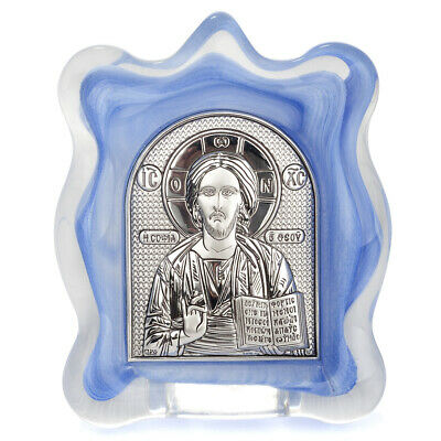 NEW Clarte Icon Lord God's Wisdom Blue 9x10.5cm