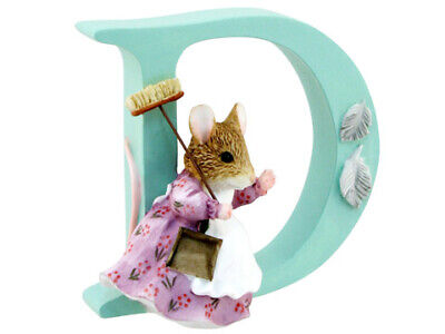 NEW Beatrix Potter Alphabet Initial D Hunca Munca Sweeping