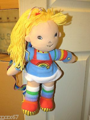 "New Rainbow Brite Plush Backpack 16"" Tall"