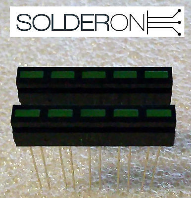 2Pcs Horizontal LED Bar Graph (5 x Green Segments) - Great for Arduino