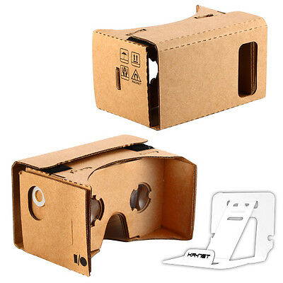 Bigger Google Cardboard - DIY VR 3D Glasses for Galaxy Note 5 iPhone 6 7 Plus