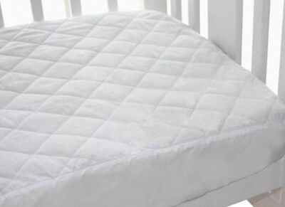 Bubba Blue Quilted Fitted Waterproof Cot Mattress Protector - LARGE COT