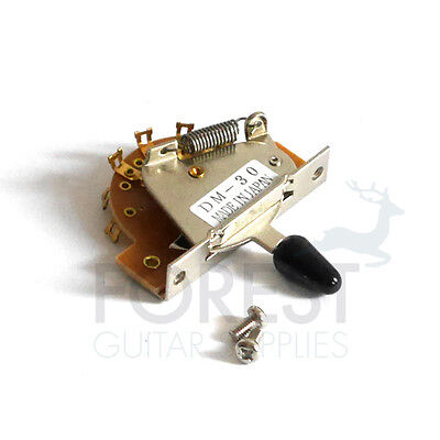3 Way Fender Stratocaster, Telecaster Style switch, chrome - black tip