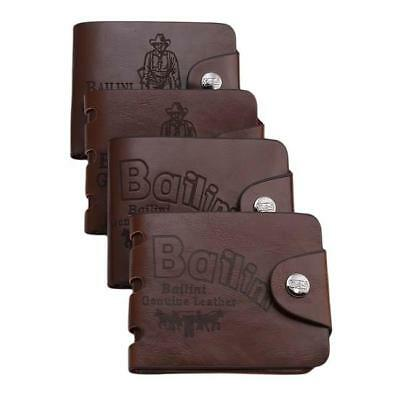 Men Brown Leather Bifold Wallet Credit Card Holder Gift Xmas Stocking Filler Boy