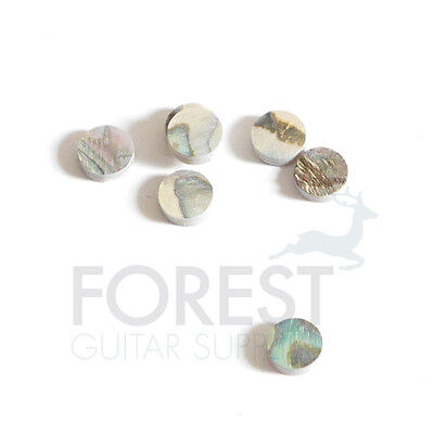 Abalone guitar fretboard inlay dot 6mm, set of 10