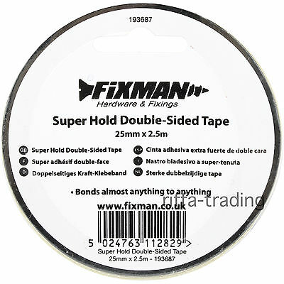 Double Sided Tape, Mounting, Faced, Craft, Car, Number Plate, Sticky,Strong Hold