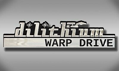 Dilithium Warp Drive Star Trek Car Emblem - Chrome Plastic Not a Decal / Sticker