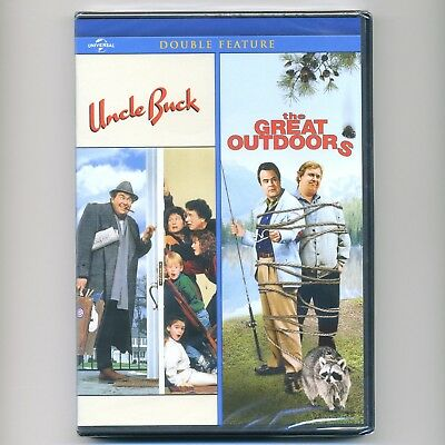 Uncle Buck, Great Outdoors, 2 PG comedy movies, new DVD, John Candy, Dan Akroyd