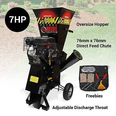 Wood Mulcher Chipper Shredder Garden Mulch Compost 7HP with Electric Start - BBT