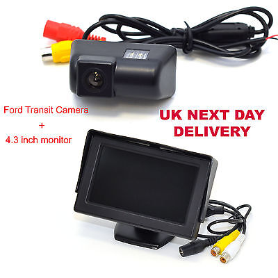 """FORD TRANSIT REAR VIEW REVERSING CAMERA WITH 4.3"""" Digital TFT LCD Colour Monitor"""