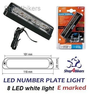 Motorcycle motorbike scooter 12v 8 LED number plate tail light fits Yamaha