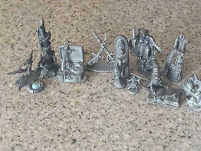lot of  10 vintage Spoontiques Pewter wizards  crystals /castles  Sunglo ++++