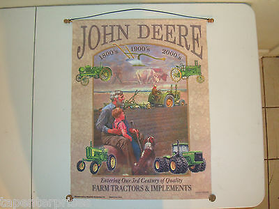 "John Deere "" Entering Our 3rd Century of Quality "" 23 1/2"" X 17 3/4"" Canvas Sign"