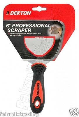 "Professional Heavy Duty 6"" Scraper Paint Wallpaper Decorate Fill Stainless Steel"