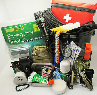 ULTIMATE GRAB & GO EMERGENCY SURVIVAL KIT scouts cadets military camping hiking