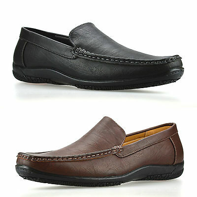 Mens Slip On New Casual Boat Deck Mocassin Designer Loafers Driving Shoes Size