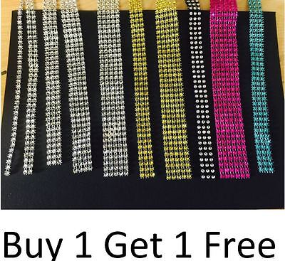 Diamante Crystal Effect Ribbon For Cake, Bridal Decoration **BUY 1 GET 1 FREE**