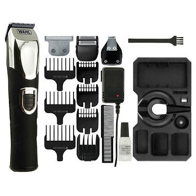Wahl 9854-800 Deluxe Mens Hair Beard Shaver Clipper Trimmer Grooming Kit