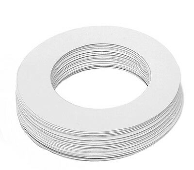 50 Paper Rings Heater Collars Adjustable cuts to fit around most wax pots