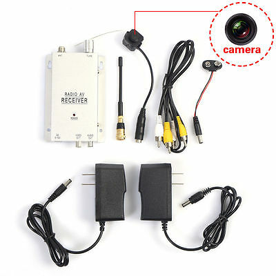 Mini Wireless Security Nanny Camera Hidden Pinhole Micro Spy Cam Complete System