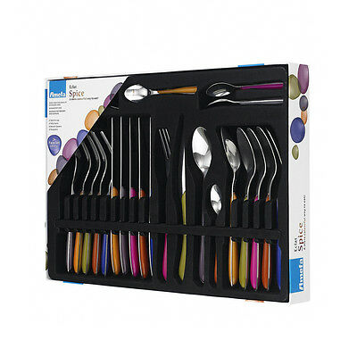 Amefa Eclat Spice 24 Piece Stainless Steel Colourful Cutlery Set