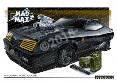 MAD MAX FORD COUPE  STRETCHED CANVAS (M001)-New_Itemq