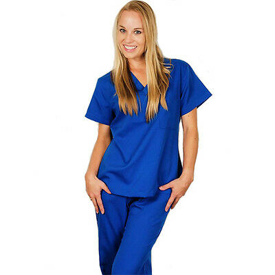 Medical Nursing Ultra Soft Scrubs Uniforms For Women Tops Pants Set New Hospital