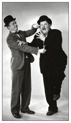 LAUREL & HARDY fridge magnet - REDUCED TO CLEAR