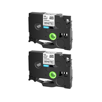 """2PK Compatible for Brother P-TOUCH TZ-231 TZe-231 1/2"""" LABEL-TAPE BLACK on WHITE"""