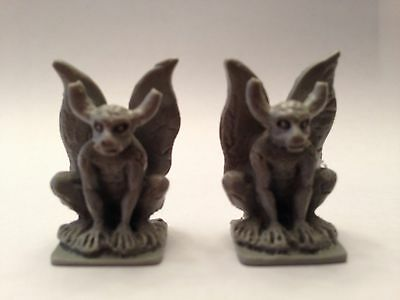 Miniature Plastic Gargoyle Statues - Dollhouse Fantasy Myth Diorama Decorations