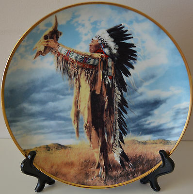 Prayer to the Great Spirit Paul Calle Franklin Limited Edition 1991 art plate