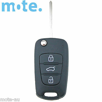 Hyundai i30 i20 Elantra 3 Button Flip Key Replacement Remote Case/Shell/Blank