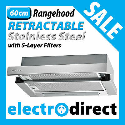 60cm Stainless Steel Slide Out Rangehood Retractable 600mm Under Cabinet NEW