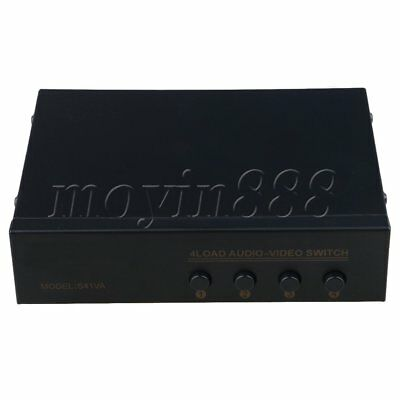 Multifunctional AV Selector Audio Video RCA Switch Box 4 Port Input 1 Output