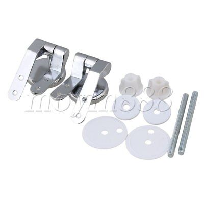 Brand New Chrome Pair Replacement Toilet Seat Hinge Toilet Mountings Accessories