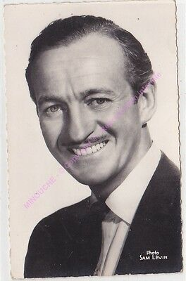 CPSM RPPC STAR DAVID NIVEN PHOTO SAM LEVIN Edt du GLOBE 665 n1