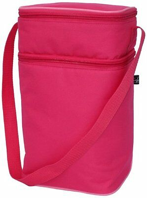 J.L. Childress 6 Bottle Cooler Tote Bag, Pink/Light Pink , New, Free Shipping