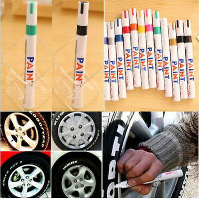 12 Colors Indelible Tyre Paint Pen Tire Plastic Outdoor Marker