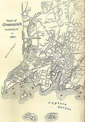 Greenwich CT 1942  Maps with Homeowners Names Shown