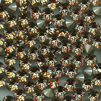 1028 SS34 LCT *** 12 Strass Swarovski  fond conique 7,2mm  LIGHT COLORADO TOPAZ