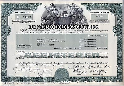 RJR Nabisco Holdings Group Stock Bond Certificate