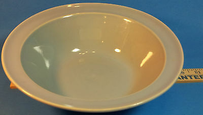 "LuRay Pastels 9"" Blue Vegetable Serving Bowl Vintage Lu-Ray Pottery"