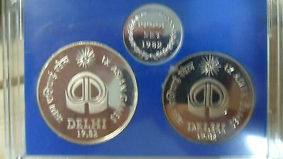 India 100 & 10 Rupees Proof Set / 1982 / 9th Asian Game(Delhi)